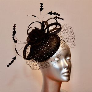 Lovely black diamante pillbox 16745/SD503/733/734/735